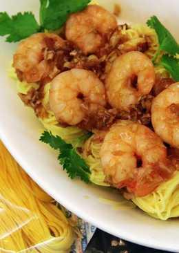 蠔油蝦仁燴薑黃麵線