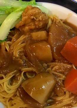 咖哩肉丸薑黃麵