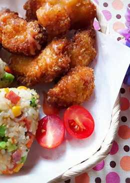 火腿玉米青花菜醬烤飯糰