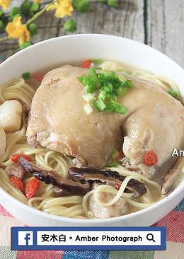 蒜頭香菇養生雞腿麵