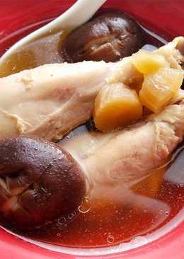 菜心香菇雞湯♥(電鍋版)