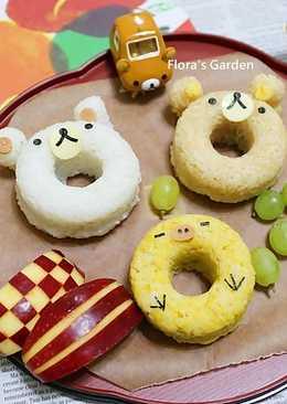 高鈣助成長-懶懶熊甜甜圈飯糰