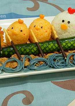 快樂端午-小雞划龍舟