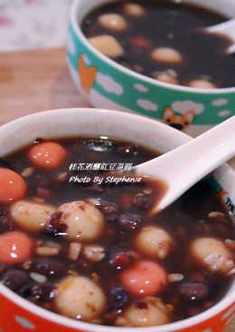 桂花酒釀紅豆湯圓