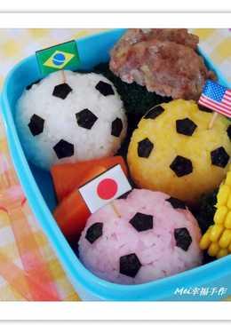 【親子食堂】瘋世足~彩色足球便當