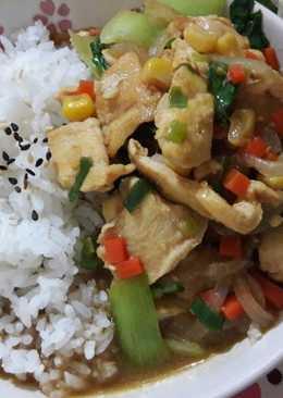 沙茶雞肉燴飯