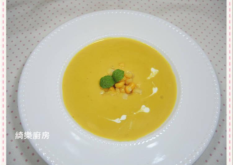 玉米蘑菇南瓜濃湯