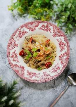 鮮蝦野菇燉飯
