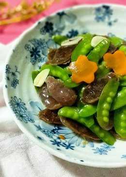 雙味臘腸炒碗豆