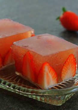 草莓寒天凍