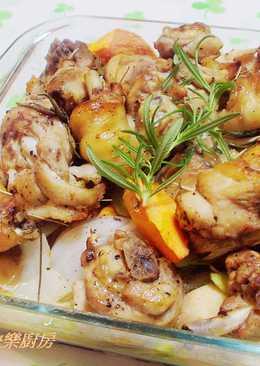 烤箱料理~迷迭香草烤雞