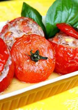 安萱下課後 烤番茄鑲肉(tomate farcie)