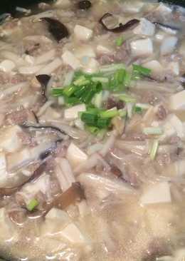 菇類絞肉燉豆腐(可拌飯)