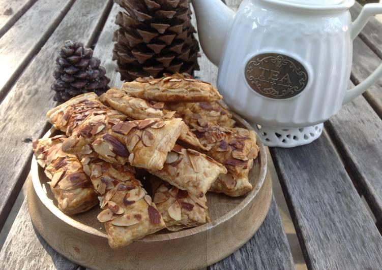 Almond Puff Pastry-黑糖杏仁千層酥派♥!