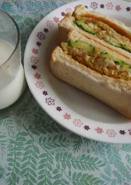 《夏日輕食》無鹽地瓜沙拉三明治
