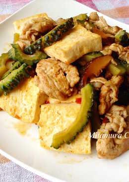 苦瓜肉豆腐