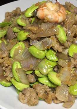 虾米肉碎大葱炒臭豆