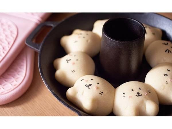 可愛小海豹造型鑄鐵鍋手撕麵包