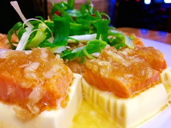鮭魚豆腐蒸