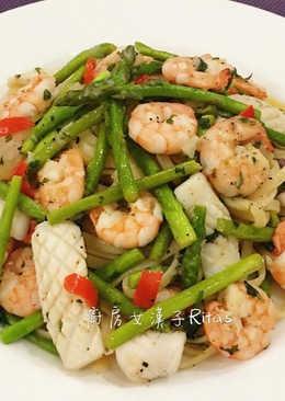 蘆筍海鮮義大利麵