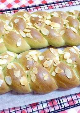 抹茶牛奶辮子麵包(奶素)