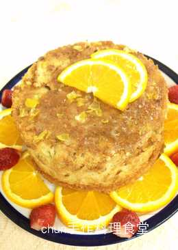 檸檬甜橙核桃磅蛋糕