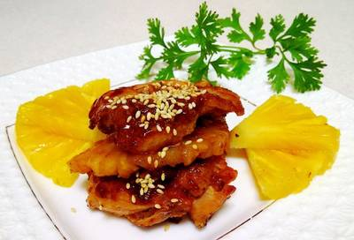 鳳梨燴雞排