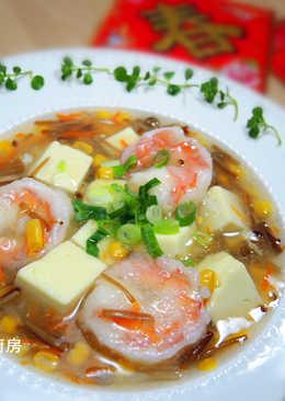 鮮蝦豆腐羹湯
