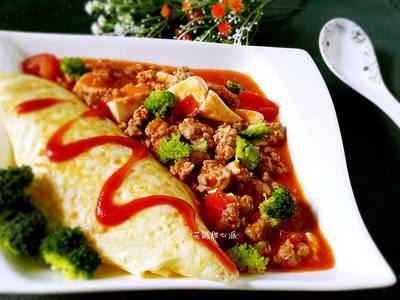 蕃茄肉末豆腐燴飯