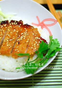 蜜汁味噌豬排丼