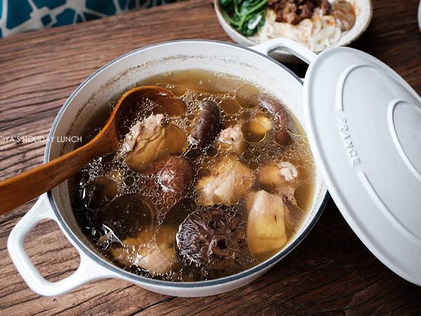 紹興酒取代米酒的香菇雞湯