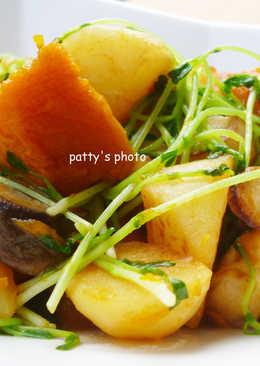 【料亭和露】醬燒根菜