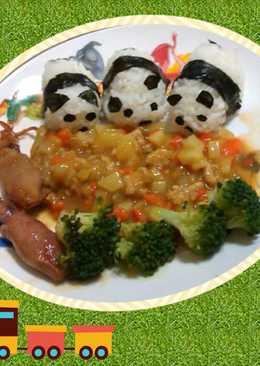 熊貓吃飯造型便當