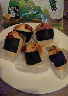 【元本山幸福廚房】壽司形狀海苔培根蔥花麵包