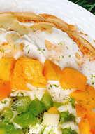 芒果千層橄欖油蛋糕 (免烤箱)