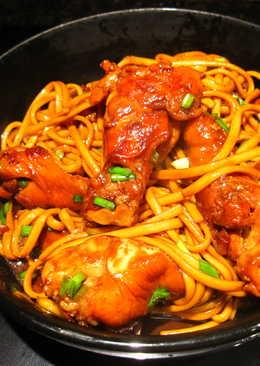 醬燒雞翅炒麵