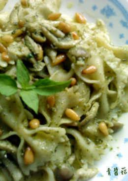 【烘培筆記】青醬菇菇松子義大利麵