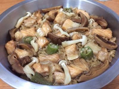 電鍋 奶油鮭魚飯(一人份)
