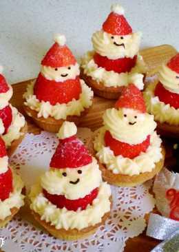 聖誕老公公草莓乳酪塔