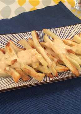 烤箱薯條佐起司芝麻醬