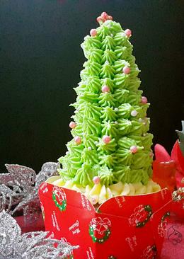 聖誕樹杯子蛋糕