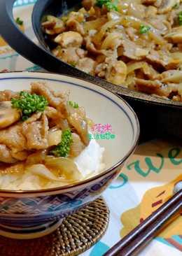黑胡椒蘑菇豬肉蓋飯