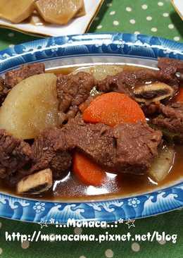 韓式蘿蔔燉牛排骨무갈비찜