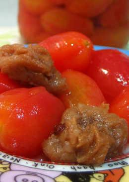♡宛の清涼一夏 ♥ 料理 ✿ 冰釀梅漬小蕃茄
