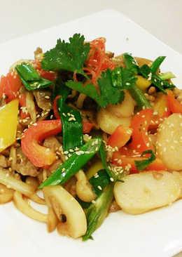 菌菇燴寧波烤年糕(豆油伯金豆醬油食譜)