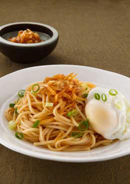 【家樂福廚房】水波蛋配鵝油香蔥乾拌麵