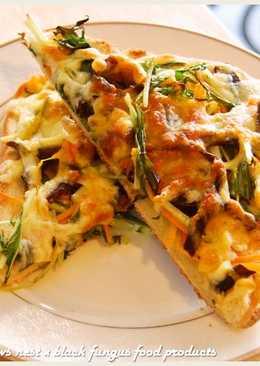黑木耳焗烤生菜沙拉吐司.柯媽媽の植物燕窩