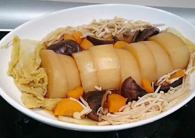 菇菇白菜燉蘿蔔(素食可)