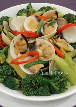 鮮蛤炒花椰