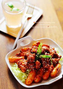 韓式乾杯料理-辣醬炸雞年糕